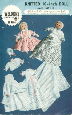 Knitting Patterns For 10 Inch Dolls : 1000+ images about Baby & Doll Knitting & Crochet Patterns ...