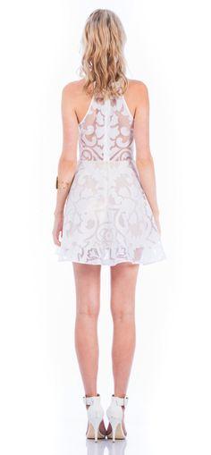 KEEPSAKE ROMANTIC REBEL DRESS IVORY LACE BURNOUT $154- CALL SPLASH TO ORDER 314-721-6442