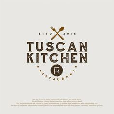 restaurant branding Runner-up design by unflea Logo Restaurant, Italian Restaurant Logos, Resturant Logo, Italian Logo, Restaurant Design, Design 3d, Food Logo Design, Logo Food, Custom Logo Design
