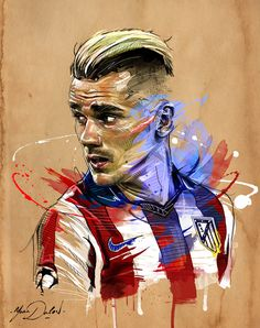 My painting of Antoine Griezmann.