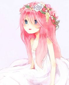 Uploaded by find images and videos about anime, flowers and kawaii on we heart it - the app to get lost in what you love. Pink Hair Anime, Rose Pink Hair, Girl With Pink Hair, Anime Girl Pink, Kawaii Anime Girl, Anime Art Girl, Pink Girl, Anime Oc, Chica Anime Manga