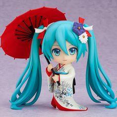 Good Smile Company presenta la Nendoroid que le dedica a Hatsune Miku representada con el Korin Kimono nacida del Proyecto para el Restablecimiento del Korin Kimono. Hatsune Miku, Tokyo Ville, Kimono Design, Tokyo Otaku Mode, Anime Figurines, Mode Shop, Good Smile, National Museum, Anime Manga