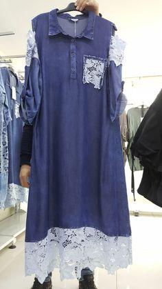 Stylish Dress Designs, Designs For Dresses, Stylish Dresses, Abaya Fashion, Denim Fashion, Fashion Dresses, Womens Denim Dress, Demin Dress, Classic Outfits