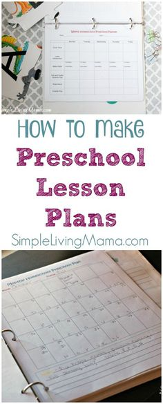 Learn how to make preschool lesson plans easily. This lesson planning process is fun and perfect for homeschool preschool or in-home daycare.
