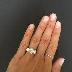 Three Stone Round Brilliant Engagement Ring – Stephanie Gottlieb Fine Jewelry