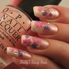 Real Dried Flowers Nail Art