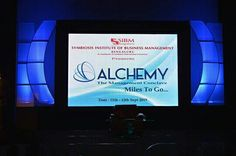 Stage for Alchemy 2015, the management conclave of SIBM Bengaluru