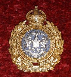 City of London Imperial Yeomanry Rough Riders cap badge