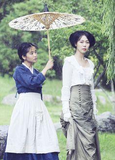 Kim Tae-ri & Kim Min-hee in 'Agasshi/The Handmaiden' (2016).