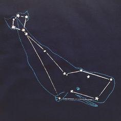 Whale Cetus Constellation shirt by Little Lark