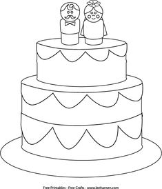 Fancy Wedding Cake Coloring Page Coloring Books Amp Pages