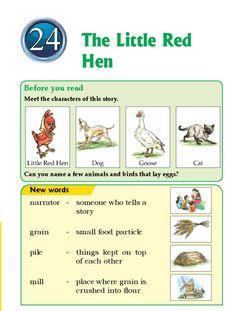 literature-grade play- the little red hen Story For Grade 1, Grade 1 Reading, English Story, Little Red Hen, English Literature, Grade 2, New Words, English Language, Short Stories