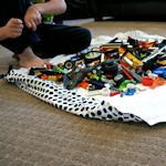 25 ideas for DIY kids gifts - lego mat