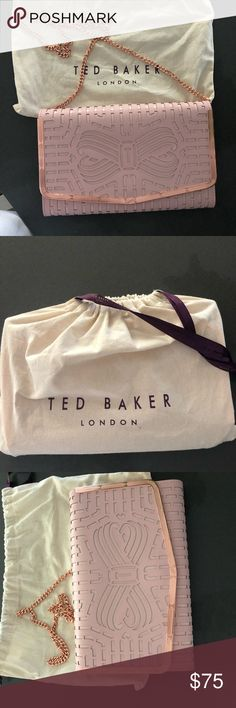 3d0e10796ea15 Ted Baker Cross Body bag Pink purse w rose gold detailing and chain. With  original bag new without tags Ted Baker London Bags Crossbody Bags