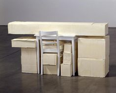 Rachel Whiteread Study, 2005 Plaster and wood 36 x 73 x 21 ¼ inches x 187 x 54 cm) Rachel Whiteread, Bokashi, To Infinity And Beyond, Negative Space, 3d Design, Installation Art, Art Installations, Decoration, Sculpture Art