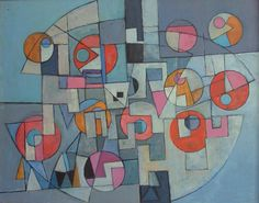 """PAUL MOUNT'S """"THE DANCERS""""...PAUL WHO DIED RECENTLY WAS A PIONEER OF GEOMETRIC ART & WAS BASED IN ST. JUST, CORNWALL JUST UP THE ROAD FROM WHERE I USE TO LIVE..."""