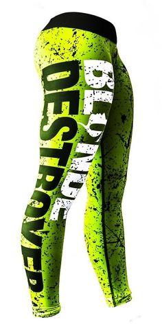 Blonde Destroyer Fitness Leggings/ Sport pants/ Gym tights / Size M