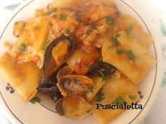 paccheri baccalà e cozze un ottimo primo piatto baccala cozze e vongole
