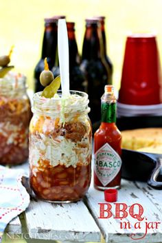Mason Jar Recipe Ideas - Barbecue in Mason Jar - Food in Mason Jars