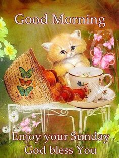 Have an awesome and blessed day. Good Morning Sunday Images, Sunday Morning Quotes, Enjoy Your Sunday, Good Morning Good Night, Morning Prayers, Morning Pictures, Morning Pics, Sunday Greetings, Morning Greetings Quotes