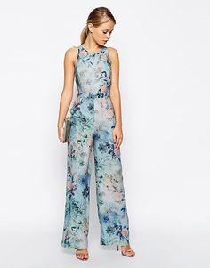 ASOS | ASOS Delicate Floral Printed Jumpsuit