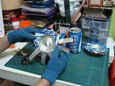 SunSetya Story: Membuat Asbak Dari Kaleng Minuman Bekas