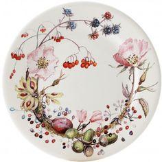 Bouquet - 4 dessert plate floral
