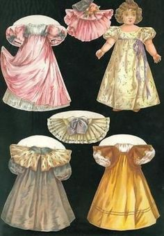 McLoughlin Bros. Nellie Paper Doll w 3 Costumes + Accessories 1899 (12/22/2013)