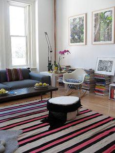 cool stripes in a livingroom