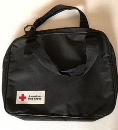 American red cross logo exc condition Sturdy Book bag purse or Holder Black #fashion #clothing #shoes #accessories #womensbagshandbags (ebay link)