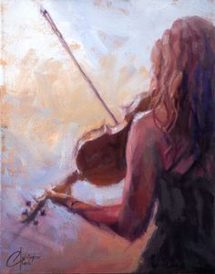 "Violinist, Sweet Violin, original music oil painting by Christopher Clark, fine artist <span class=""edit-link btn btn-inverse btn-mini""><a class=""post-edit-link"" href=""http://www.christopherclark.com/wp-admin/post.php?post=7198&action=edit"" title=""Edit"">Edit</a></span>"