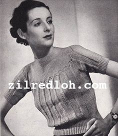 The   Vintage   Pattern   Files: 1930's Knitting - Easy Stitches For A Chic Jumper