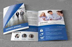 Bifold Corporate Brochure-V749 by Template Shop on @creativemarket