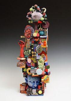 personal symbol totem poles - yr 9-10  image: mudbucket.blogspot.com : work is by Tiffant Schmierer.