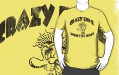 Vintage Retro Special Edition 'Crazy Eddie Won't be Beat' Distressed T-Shirt by Albany Retro
