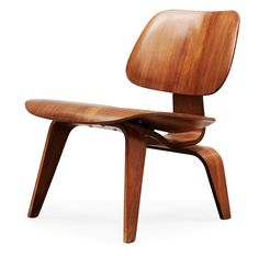 A Charles & Ray Eames 'LCW' plywood chair by Herman Miller, USA.