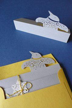 2013 Gift of winter Penguin / Christmas Card