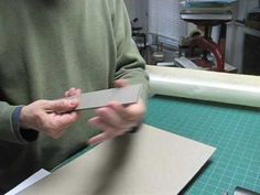 Making a Slipcase Pt1 - Cutting and lining  Do this to create a collection of the boys' scouting scrapbooks