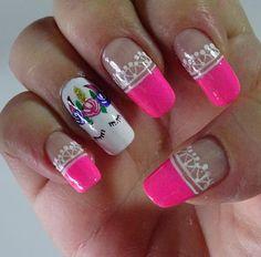 Decoración para tus uñas con un unicornio y franceses preciosos. ❣ ¿Te gusta? . . . . . . ..#nails #nail #mundomanicura #fashion #style…