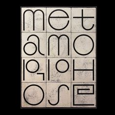 Metamorphose Type/Pattern raku fired tiles with Karak Online Portfolio, Typography, Fire, Graphic Design, Pattern, Objects, Behance, Te Amo, Letterpress