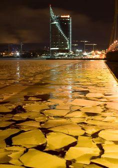 Melting ice on the Daugava River, Riga, Latvia Copyright: Romuald Jaworski
