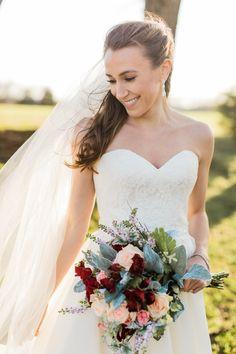 Bride wears Augusta Jones - Keira