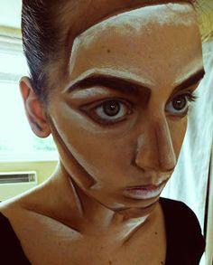 cubism based makeup
