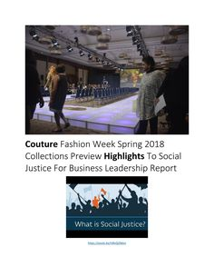 Social Justice Business Leadership For Fashion Report