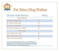 Pet Sitting Business Plan Template Lovely 12 Best Images About Pet Sitter Dog Walker Business On Pet Sitting Business, Dog Walking Business, Dog Walking Flyer, Pet Sitting Services, Pet Services, Simple Business Plan Template, Weekly Planner Template, Pet Boarding, Pet Care Tips