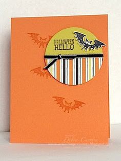 by Debra Currier, ARTfelt Impressions: CCMCFALL 13-01, Stampin up Halloween Hello stamp set, card