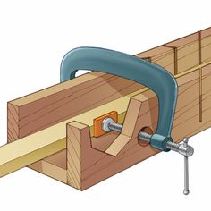 Try this trick for clamping moldings and lumber tightly inside your miter box.