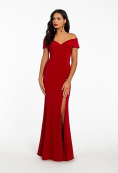 6ea6990286 Off the Shoulder Mermaid Side Slit Dress from Camille La Vie and Group USA  Glamorous Evening