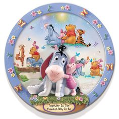 Together is the Funnest Way  Eeyore Winnie the Pooh Plate 3D Disney