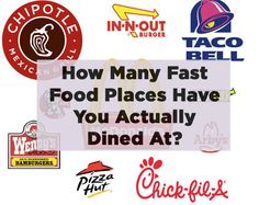How Many Fast Food Places Have You Actually Dined At?